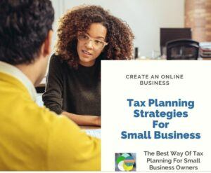 Tax Planning For Small Business